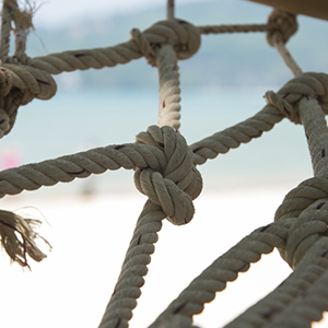 Boat safety rope background texture